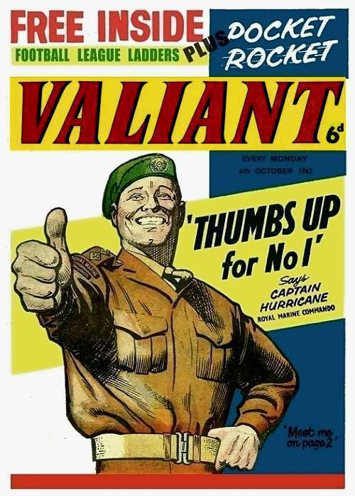 Valiant Comic, captain Hurricane, Kelly's Eye, The Steel Claw, The Nutts.
