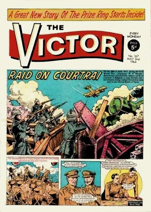 Victor Comic, War, Braddock, Alf Tupper, Morgyn The Mighty.