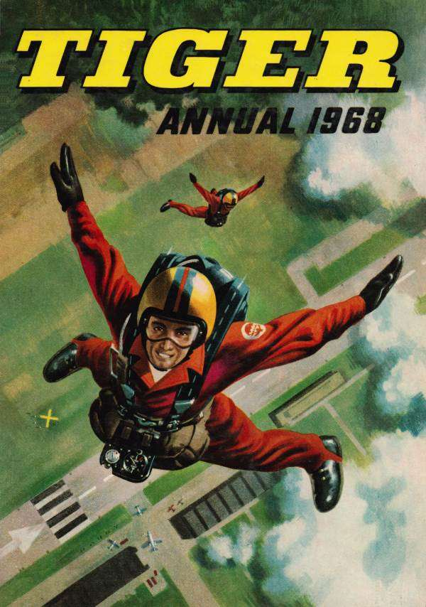 tiger annual 1968, tiger comic, roy of the rovers, typhoon tracy, jet ace logan,